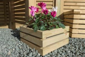 Contemporary Small Square Planter