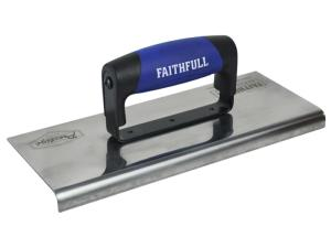 Faithfull Prestige Stainless Curved Edging Trowel 250 x 100mm
