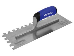 Faithfull Prestige Stainless 10mm Notched Trowel 330 x 115mm