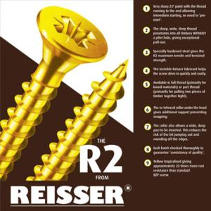 Reisser R2 Cutter High Performance Screws