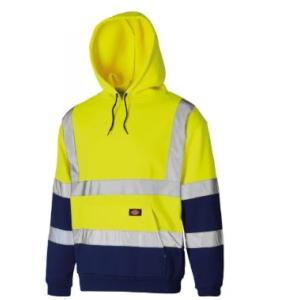 Dickies Two Tone Hoodie Hi-Vis Yellow/Navy