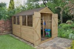 Apex Overlap Pressure Treated Shed 10x8 (Double Door)