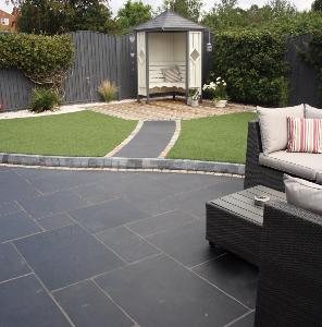 Classicstone Carbon Black Limestone Paving 18.9m² Project Pack