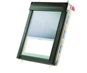 Keylite Thermal Top Hung window with Integral blind Pine Finish