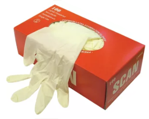 Disposable Latex Gloves (Packs of 100)
