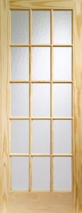 XL SA77 Knotty Pine Door With Flemish Glass