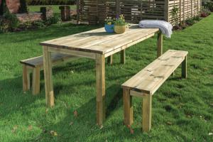 Essential Garden Table & Bench Set