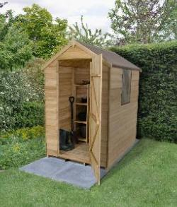 Apex Overlap Pressure Treated Shed 6x4 (No Window)