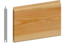 Softwood 100mm T&G Cladding (Tongue &  Groove)