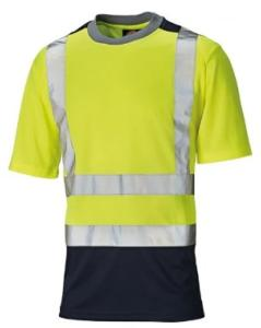 Dickies Two Tone Hi-Vis T-Shirt Yellow/Navy
