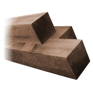 100 x 100mm Brown Treated Fence Post