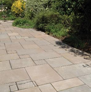 Autumn Brown Sandstone Paving Calibrated Project pack 18.9m2