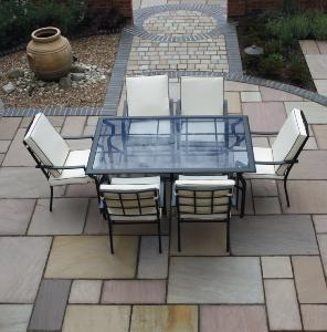 Meadow Sandstone Paving 18.9m2 Calibrated project pack