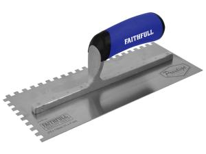 Faithfull Prestige Stainless 6mm Notched Trowel 275 x 115mm