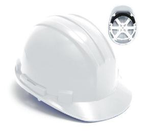 Ox Unvented White Hard Hat