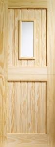 XL External Stable 1 Light Single Glazed Pine Door With Clear Glass