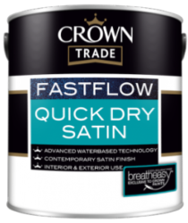 Crown Trade Fastflow Quick Dry White Satin