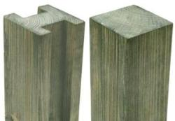 Reeded Slotted Post