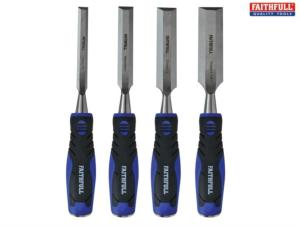 Faithfull 4PC Chisel Set + Wallet