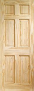 XL Colonial 6 Panel Clear Pine Door