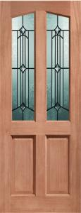 XL External Richmond Unfinished Hardwood Door With Donne Glass (M&T)