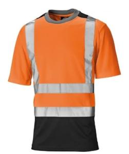 Dickies Two Tone Hi-Vis T-Shirt Orange/Navy