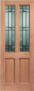 XL External Malton Unfinished Hardwood Door With Drydon Glass (Dowelled)