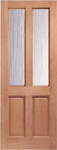 XL External Malton Unfinished Hardwood Door With Obscure Glass (M&T)