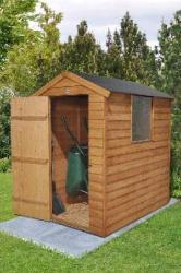 Apex Overlap Pressure Treated Shed 6x4 (Easy Fix Roof)