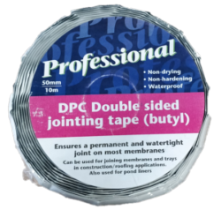 Double Sided Butyl Jointing Tape 50mm x 10mtr