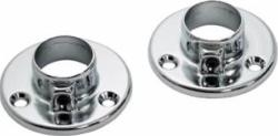 Chrome Wardrobe Rail Rod Sockets