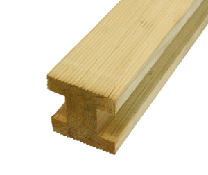 Elite Grooved H Fence Post