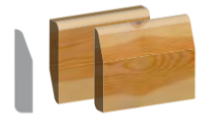 Dual Pattern Skirting Chamfered/Pencil Round 100mm x 19mm x 4.8mtr