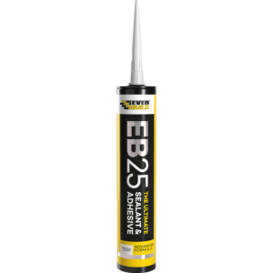 Everbuild EB25 Sealant & Adhesive 300ml Crystal Clear