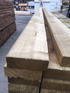 225 x 75mm Sawn Green Treated Landscape Timber 4.8m