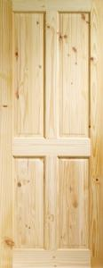 XL Victorian 4 Panel Knotty Pine Door