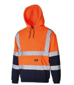 Dickies Two Tone Hi-Vis Hoodie Orange/Navy