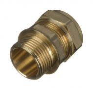 Compression Straight Male Connector 15mm x 1/2""