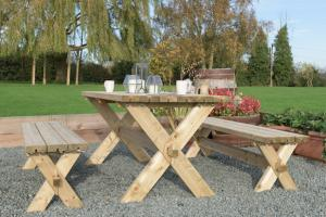 Classic Garden Table & Bench Set