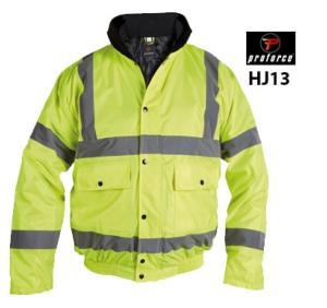 Highvis yellow Bomber Jacket