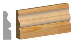 25 x 75mm Ogee Architrave 4.2mtr
