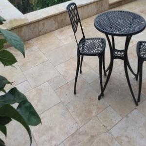 Cream Travertine Paving