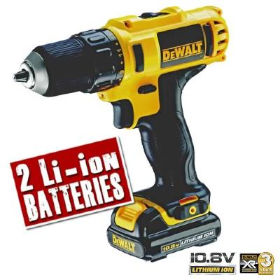 DeWalt 10.8v Screwdriver & 2 Li-Ion Batteries