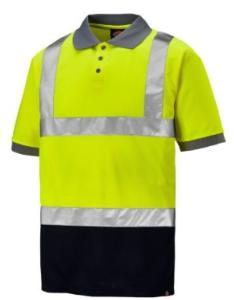 Dickies Two Tone Hi-Vis Polo Shirt Yellow/Navy